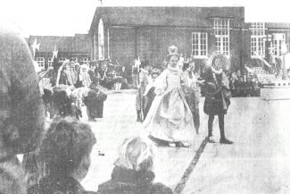 The Queen Elizabeth I,Tilbury Lansdowne County Primary School Pageant.1970s. | from John Smith