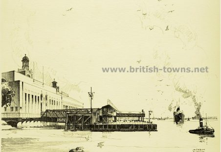 Drawing of the Landing Stage and Riverside Station