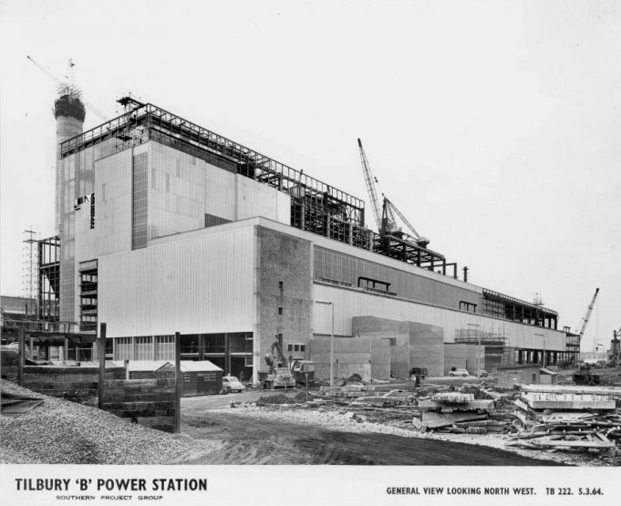 Tilbury B Power Station During Construction