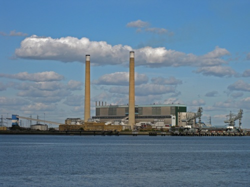 The power station seen from the Thames | from John Smith