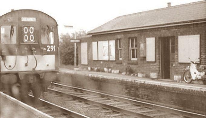 Train on Platform -1960s