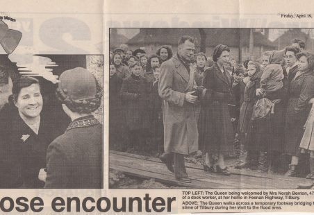 Queen's visit to Tilbury Floods
