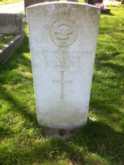 War Grave K.C.G. Gilder | Graham Sutcliffe