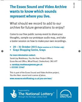 Essex Sounds survey event in Grays