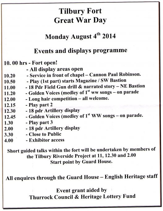 Tilbury Fort - 4th August 2014