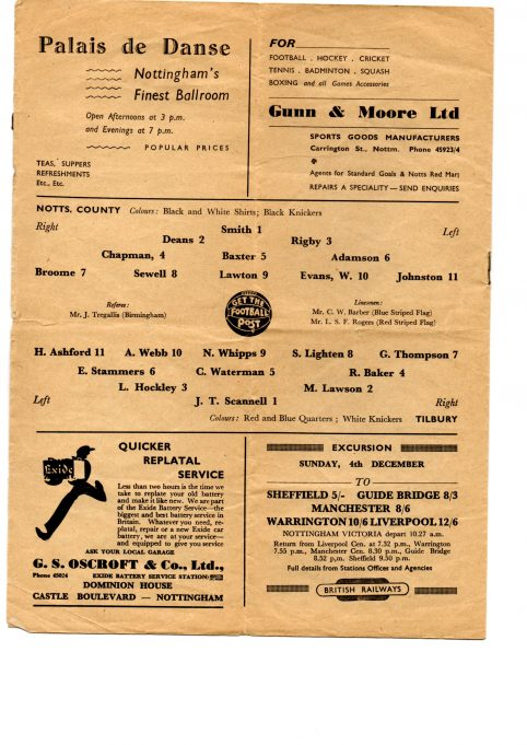 F.A.CUP 1st Round - 26/11/1949