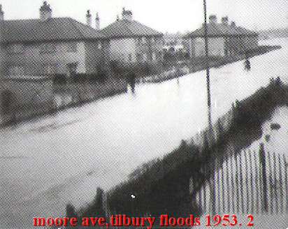 Tilbury streets under water