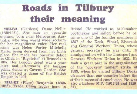 Tilbury Roads