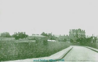Slip road from the Arol Bridge to the Tilbury Hotel | from John Smith