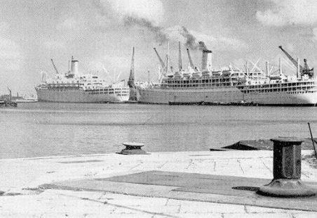 P&O Liners in Tilbury Dock