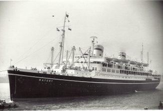 BATORY of Polish Ocean Lines off Tilbury landing stage early 1960s | Jack Willis
