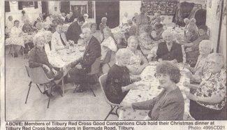 Good Companions Club christmas dinner