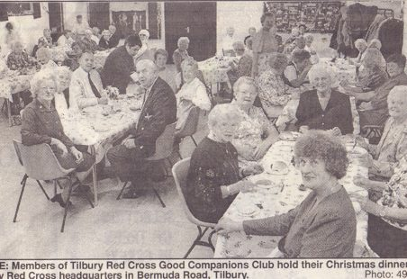 Good Companions Club christmas dinner