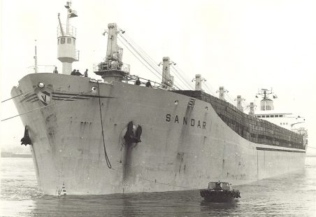 SANDAR entering Tilbury