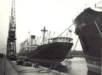 HEREFORDSHIRE of Bibby Bros. in Tilbury docks in 1960s | Jack Willis
