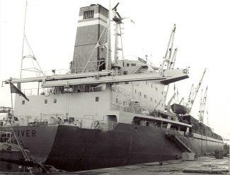 TROLL RIVER  of JJ Denholm in Tilbury Docks in 1970s