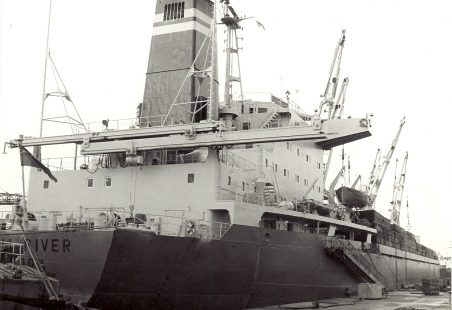 TROLL RIVER  of JJ Denholm in Tilbury Docks in 1970s