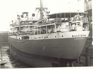 BALTISTAN of Strick line in Tilbury dry dock