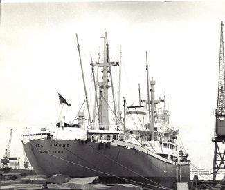 SEA AMBER in Tilbury Docks 12-5-1968 | Jack Willis