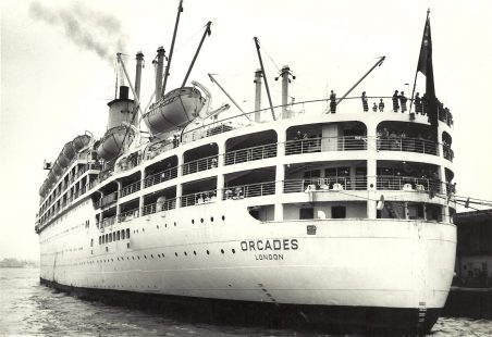ORCADES on Tilbury landing stage