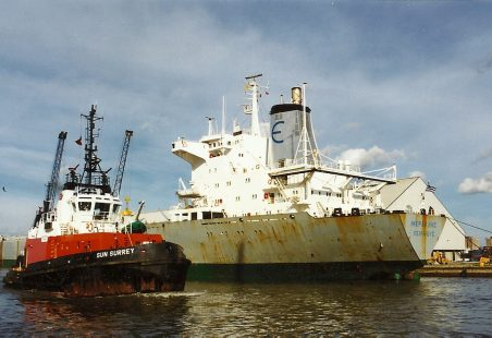 Greek vessel in Tilbury