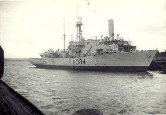 HMS LEEDS CASTLE at Wards   Jack Willis