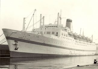 EMPRESS OF CANADA in Tilbury Docks | from Jack Willis