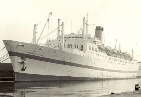 EMPRESS OF CANADA in Tilbury Docks