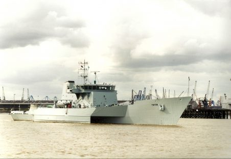 TRITON (HMS) in the river