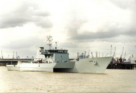 TRITON (HMS) in the river