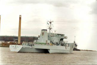 TRITON (HMS) in the river | Jack Willis