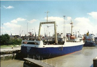 USSR trawler in locks.