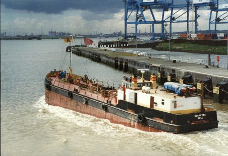 CONVEYOR leaving Tilbury