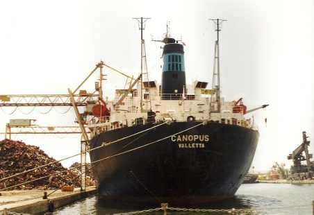 CANOPUS  loading scrap metal