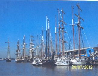 The tall ships at Tilbury for the Olympics