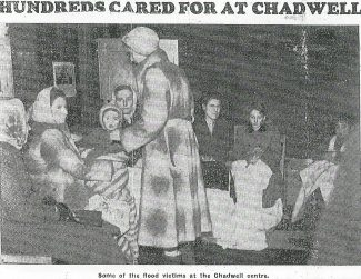 Newspaper cuttings about the 1953 floods