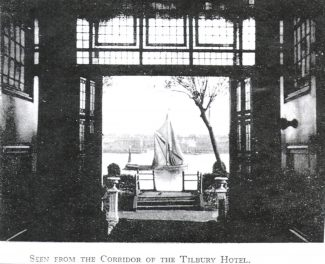 The Thames from the hotel, 1939 | From John Smith