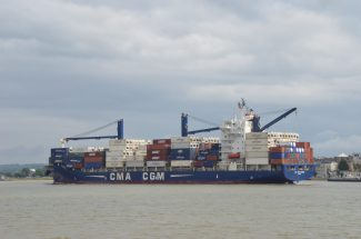CMA CGM HOMERE in the river | Jack Willis