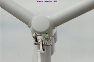 Working on the wind turbines | from John Smith