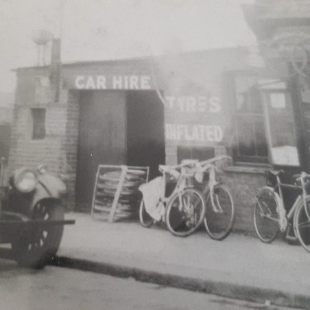 Harold's bike shop / garage in Dock Road, Tilbury | Jill Crawley