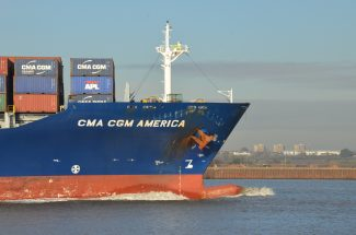 The container ship CMA CGM AMERICA | Jack Willis