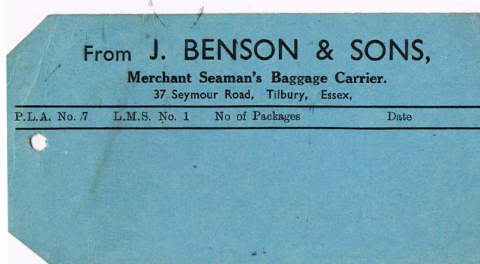 Benson baggage label