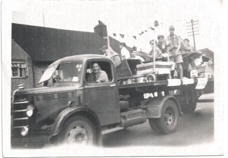 Tilbury Scouts Fancy Dress float in Carnival 1950's ?