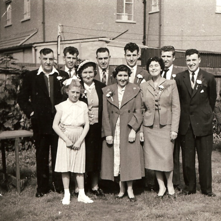 Medlock 3rd from right back row | Bibby Family