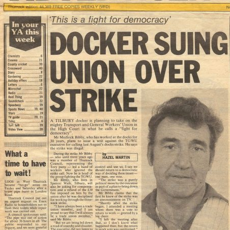 Suing union over strike | Yellow Advertiser - Bibby Family