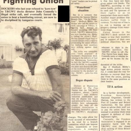 Rebel Docker Fighting Union | Bibby Family