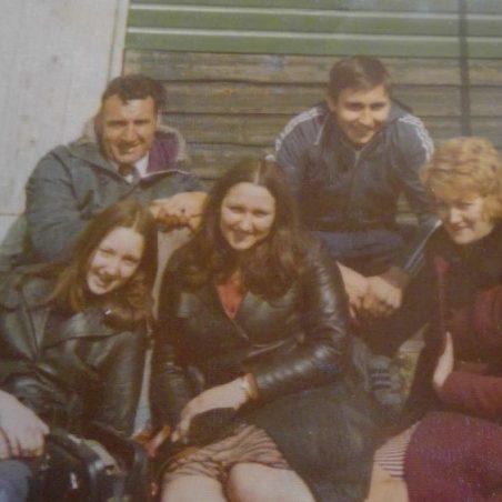 Back Row. Medlock and Shane. Front Row. Diane - Denise - Gladys   Bibby Family