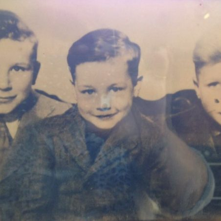 Medlock centre with his two older brothers Thomas and Nelson | Bibby Family