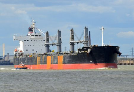 ATLANTIC ELM leaving Tilbury