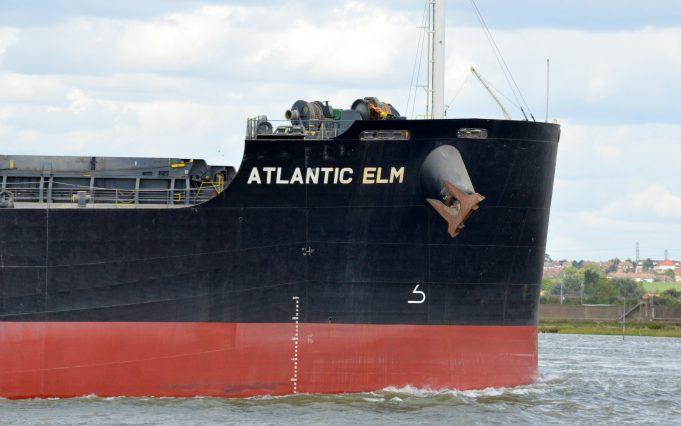 ATLANTIC ELM leaving Tilbury